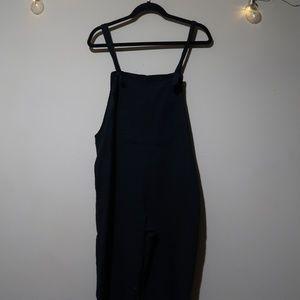 Linen oversized overalls